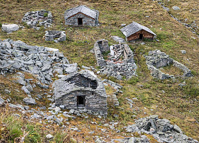 Photograph - Old Decayed And Abandoned Stone Houses by Matthias Hauser
