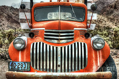 Photograph - Old Delivery Truck by Eddie Yerkish
