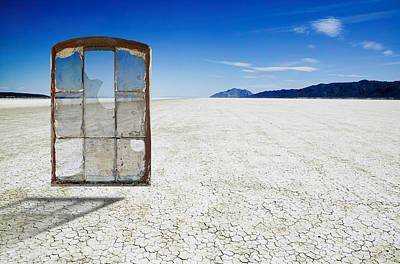 Old Desert Window Art Print by Russell Shively
