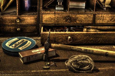Photograph - Old Desk And Bits by Beverly Cash