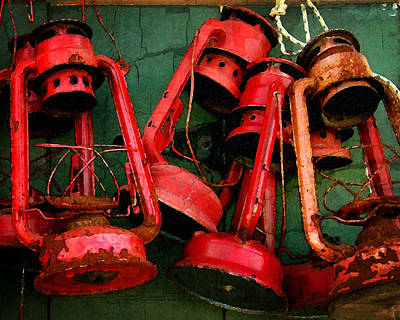 Photograph - Old Dock Lanterns by Timothy Bulone