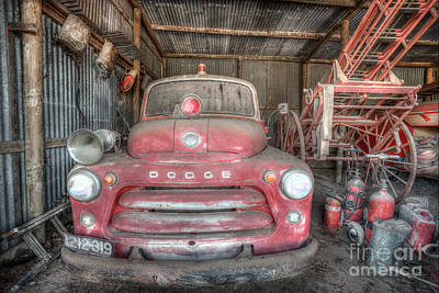Photograph - Old Dodge Fire Truck by Shannon Rogers