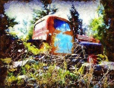 Photograph - Old Dodge Truck by Janine Riley