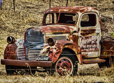 Photograph - Old Dodge Truck by Ron Roberts