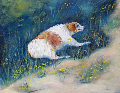 Anne Geddes Florals - Old Dog Resting in the Shade by Asha Carolyn Young