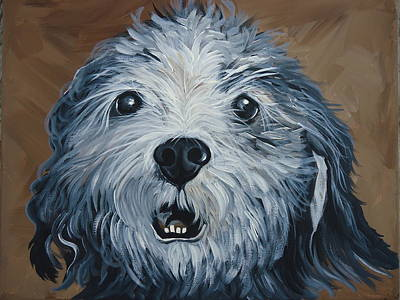 Painting - Old Dogs Are The Best Dogs by Leslie Manley