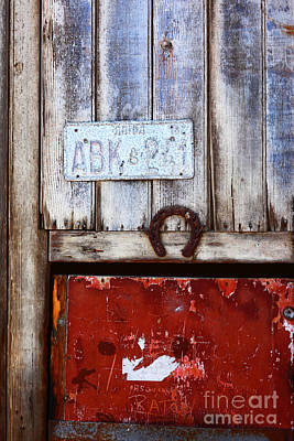 Good Luck Photograph - Lucky Old Door 2 by James Brunker