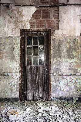 Old Door - Abandoned Building - Tea Art Print