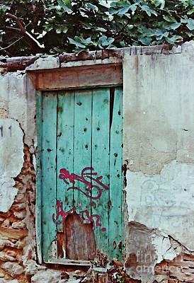 Photograph - Old Door And Graffiti In Lorca by Sarah Loft