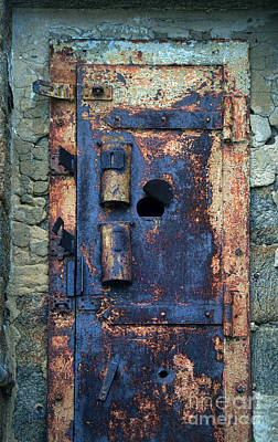 Photograph - Old Door At Abandoned Prison by Jill Battaglia