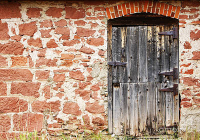 Art Print featuring the photograph Old Door In A Stone Wall by Lincoln Rogers