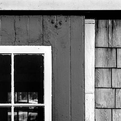 Photograph - Old Door In Black And White by Charles Harden