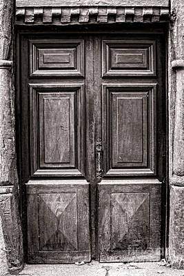 Solid Photograph - Old Door by Olivier Le Queinec