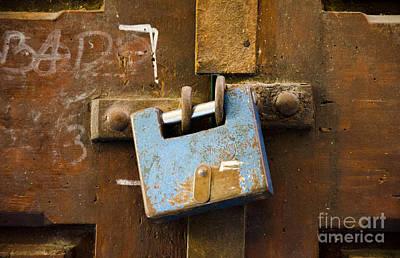 Photograph - Old Door Padlock by Victoria Herrera