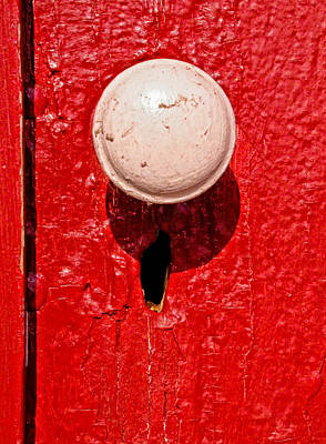 Photograph - Old Doorknob And Keyhole by Gary Slawsky