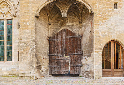Photograph - Old Doors At Popes Palace In Avignon France by Marek Poplawski