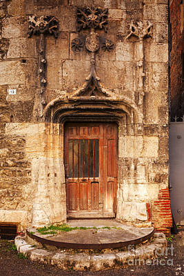 Old Doorway Cahors France Art Print