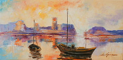 Painting - Old Dunbar Harbour by Luke Karcz