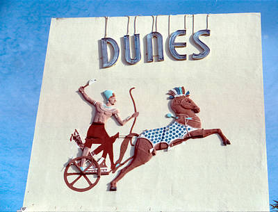Sign Photograph - Old Dunes Hotel Miami Beach by Matthew Bamberg