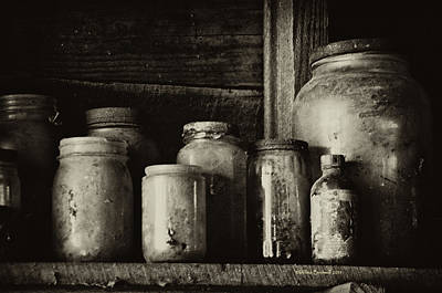 Photograph - Old Dusty Jars by Wilma  Birdwell