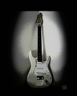 Photograph - Old Electric Guitar by Absinthe Art By Michelle LeAnn Scott