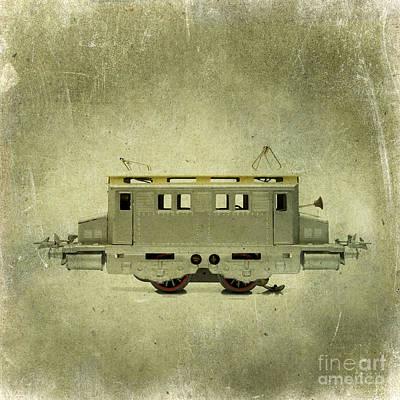 Old Electric Train Art Print by Bernard Jaubert