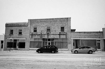 old empty stores brick historic buildings 3rd ave Kamsack Saskatchewan Canada Art Print by Joe Fox