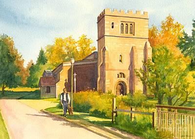 Old English Church Art Print by Jan Landini