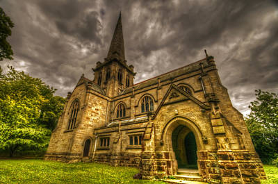 Holy Digital Art - Old English Church by Nathan Wright