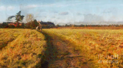 John Constable Painting - Old English Landscape by Pixel Chimp