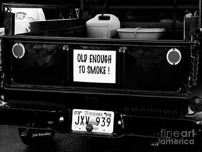 Photograph - Old Enought To Smoke by   Joe Beasley