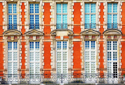 Photograph - Old Facade In Place Des Vosges by Visions Of Our Land