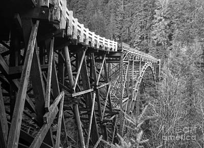 Rickety Bridge Photograph - Old Fairfax Bridge by Rachel Cash