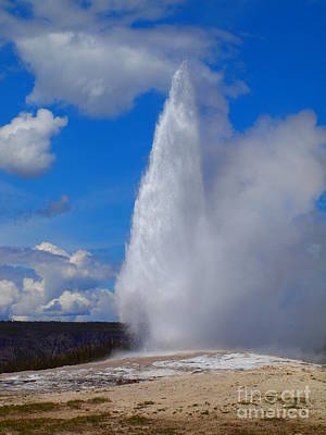 Photograph - Old Faithful Geyser by Tammy Bullard