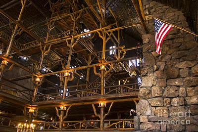 Photograph - Old Faithful Inn by Bob and Nancy Kendrick