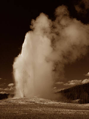 Photograph - Old Faithful by Michael Kirk