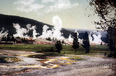 Photograph - Old Faithful Soldier Station Giantess by NPS Photo Detroit Photographic Co