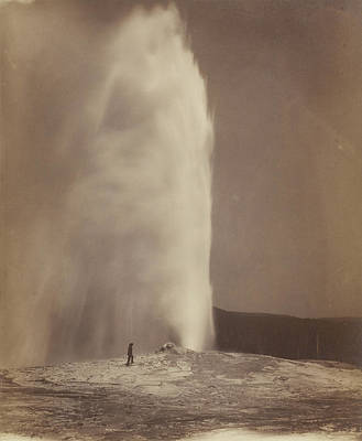 Yellowstone Drawing - Old Faithful William Henry Jackson, American by Litz Collection