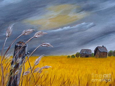 Old Farm 1 Art Print by Beverly Livingstone