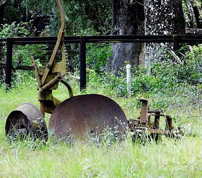 Photograph - Old Farm Equipment by D Hackett