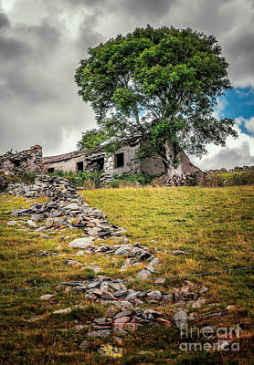 Dilapidated Digital Art - Old Farm House by Adrian Evans