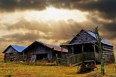 Old Farm House Art Print by B Wayne Mullins