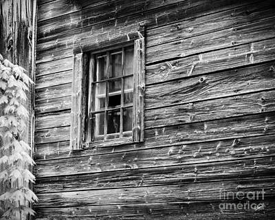 Photograph - Old Farm House Window by Alana Ranney