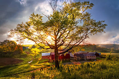 Old Farm In The Blue Ridge Mountains Art Print by Debra and Dave Vanderlaan