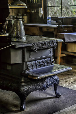 Old Farm Kitchen And Wood Burning Stove Art Print