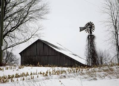 Clare Michigan Photograph - Old Farm by Linda Kerkau