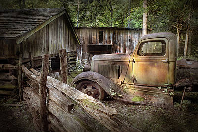 Randall Nyhof Royalty Free Images - Old Farm Pickup Truck Royalty-Free Image by Randall Nyhof