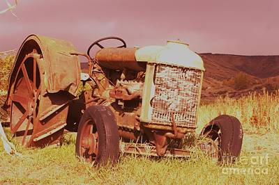 Old Farm Tractor  Art Print by Jeff Swan