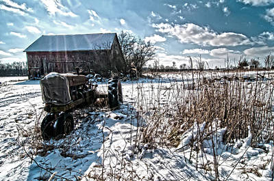 Barn Lots Photograph - Old Farm  Tractor Memory by Randall Branham