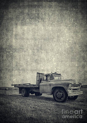 Photograph - Old Farm Truck Cover by Edward Fielding